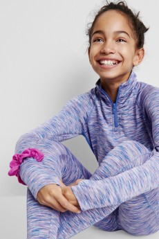Stitch Fix Kids clothes including purple athleisure outfit.