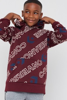 Stitch Fix Kids clothes including a brown graphic hoodie sweatshirt.