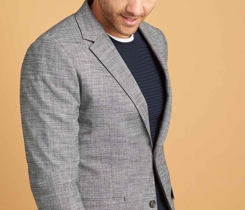 men's big and tall grey blazers